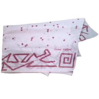Vivienne Westwood Pink Silk Scarf