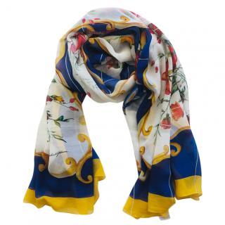 Dolce & Gabbana silk Maiolica print scarf