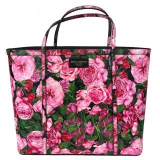 Dolce & Gabbana rose print large shopper
