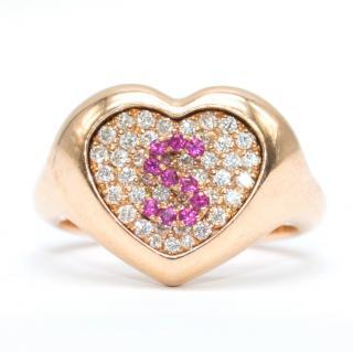 Shima Azman 18k Gold 'S' Signet Ring - Made To Order