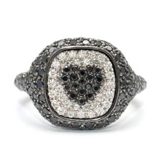 Shima Azman Black Diamond Heart Signet Ring - Made To Order