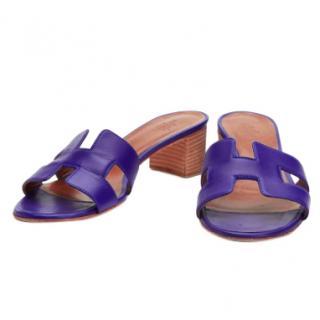 Hermes Oasis Purple Sandals