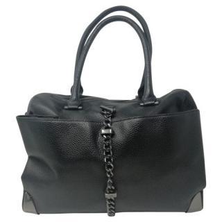 Liujo Black Leather Tote Bag