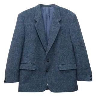 Harris Tweed X Leithauser Blue Melange Wool Blazer