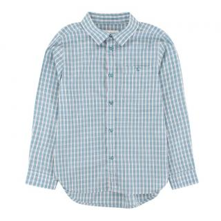 Marie Chantal Blue and White Check Shirt