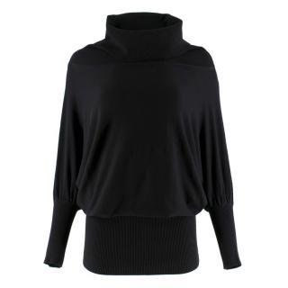 Donna Karan Black Label black high-neck sweater
