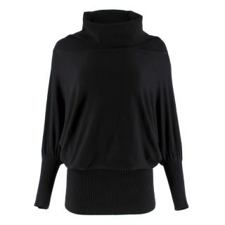 Donna Karan Black Label black high-neck sweater