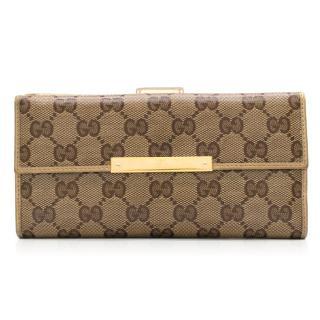 Gucci Brown Monogram Wallet