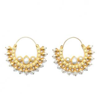 Amrapali faux-pearl hoop earrings