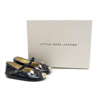 Little Marc Jacobs Mouse girls patent leather ballet flats