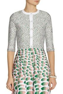 Issa jacquard-knit cropped cardigan