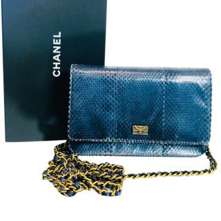 Chanel Ltd Edition Wallet on a Chain Python Skin