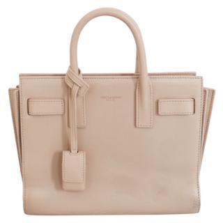 Saint Laurent Sac De Jour Nano Smooth Leather Beige Bag