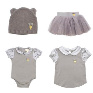 Angel's Face girls babygrow, top, tutu & hat set