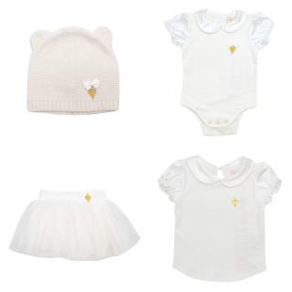 Angel's Face girls babygrow, top, tutu & hat set