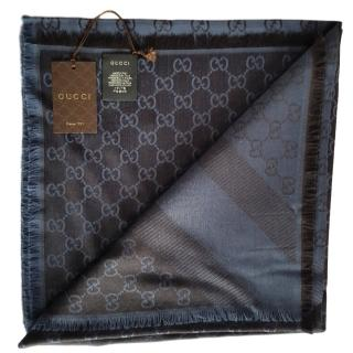 Gucci GG-jacquard wool and silk-blend scarf