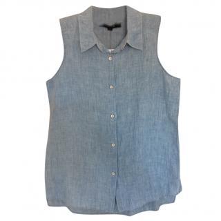 J Brand linen-chambray sleeveless shirt