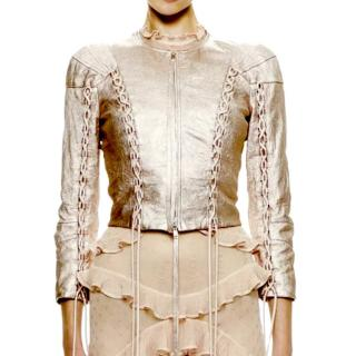 Alexander McQueen Metallic Leather Jacket