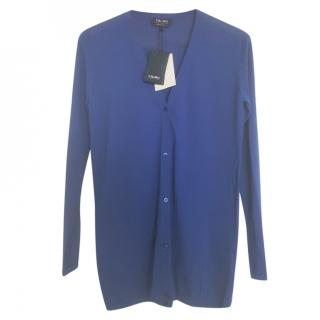 Max Mara knit blue cardigan