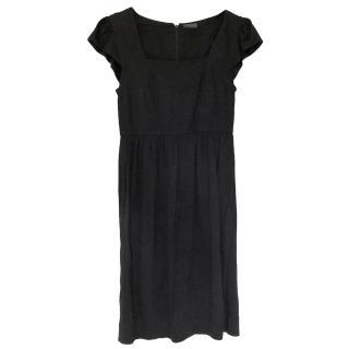 Fendi jersey square neck dress