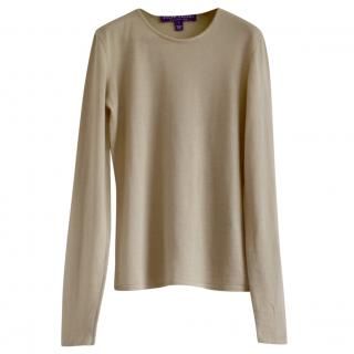 1bf20f3afc1912 Ralph Lauren Collection beige cashmere jumper