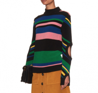 J.W.Anderson Merino Wool Striped Cut-Out Jumper