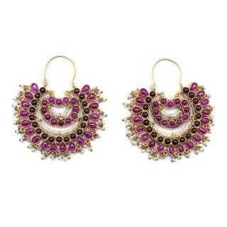 Amrapali pearl-cluster embellished earrings