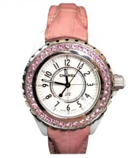 Chanel J12 Pink Sapphire Watch