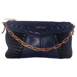 Miu Miu Navy Clutch Bag