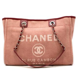 Chanel Deauville small canvas tote