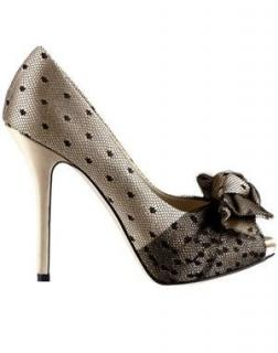 Christian Dior lace and satin pumps