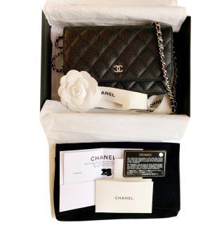 Chanel Black Caviar Wallet On Chain