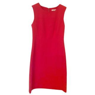 Diane von Furstenberg red shift dress, US size 0