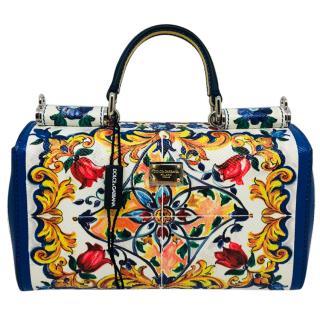 2a07435c48c8 Dolce   Gabbana Sicily Maiolica printed bag