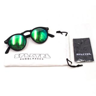 Spektre Green and Black Round Sunglasses