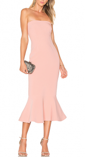 Cinq A Sept Pink Strapless Luna Dress