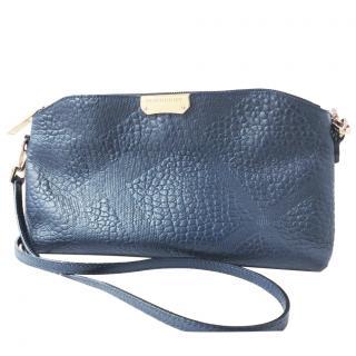 Burberry blue leather crossbody bag