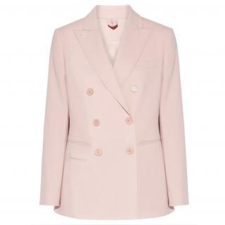 Max Mara Candy Pink Silk Satin Blazer
