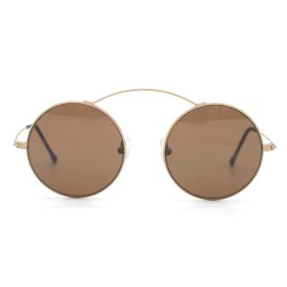Spektre Black Round Aviator Sunglasses