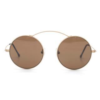 Spektre Black Round Aviator Sunglasses
