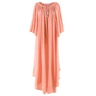 Calypso St Barth gathered cotton-gauze maxi dress