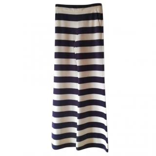 Max Mara Wide leg striped pants