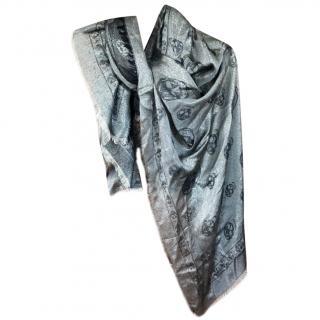 Alexander McQueen Metallic Knit Skull Scarf