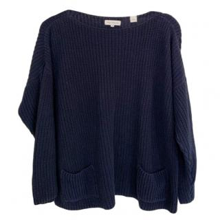 Chinti & Parker Navy Knit Jumper