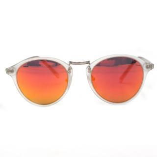 Spektre White Round Frame Sunglasses
