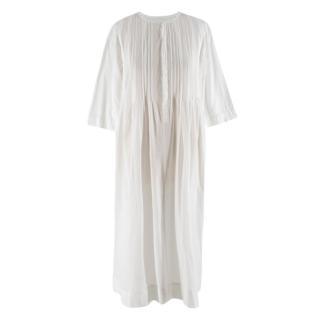 Bess Nielsen pintuck-detail white tunic