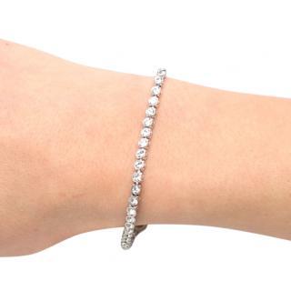 Swarovski White Crystal Rhodium Plated Tennis Bracelet