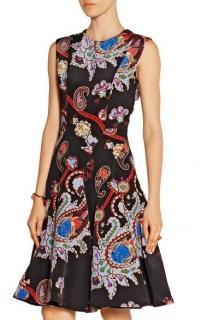 Mary Katrantzou Masson Silk-Satin Dress