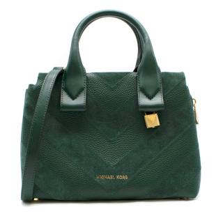 Michael Michael Kors Rollin green small satchel bag