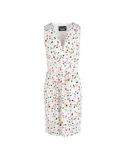 Boutique Moschino printed white dress